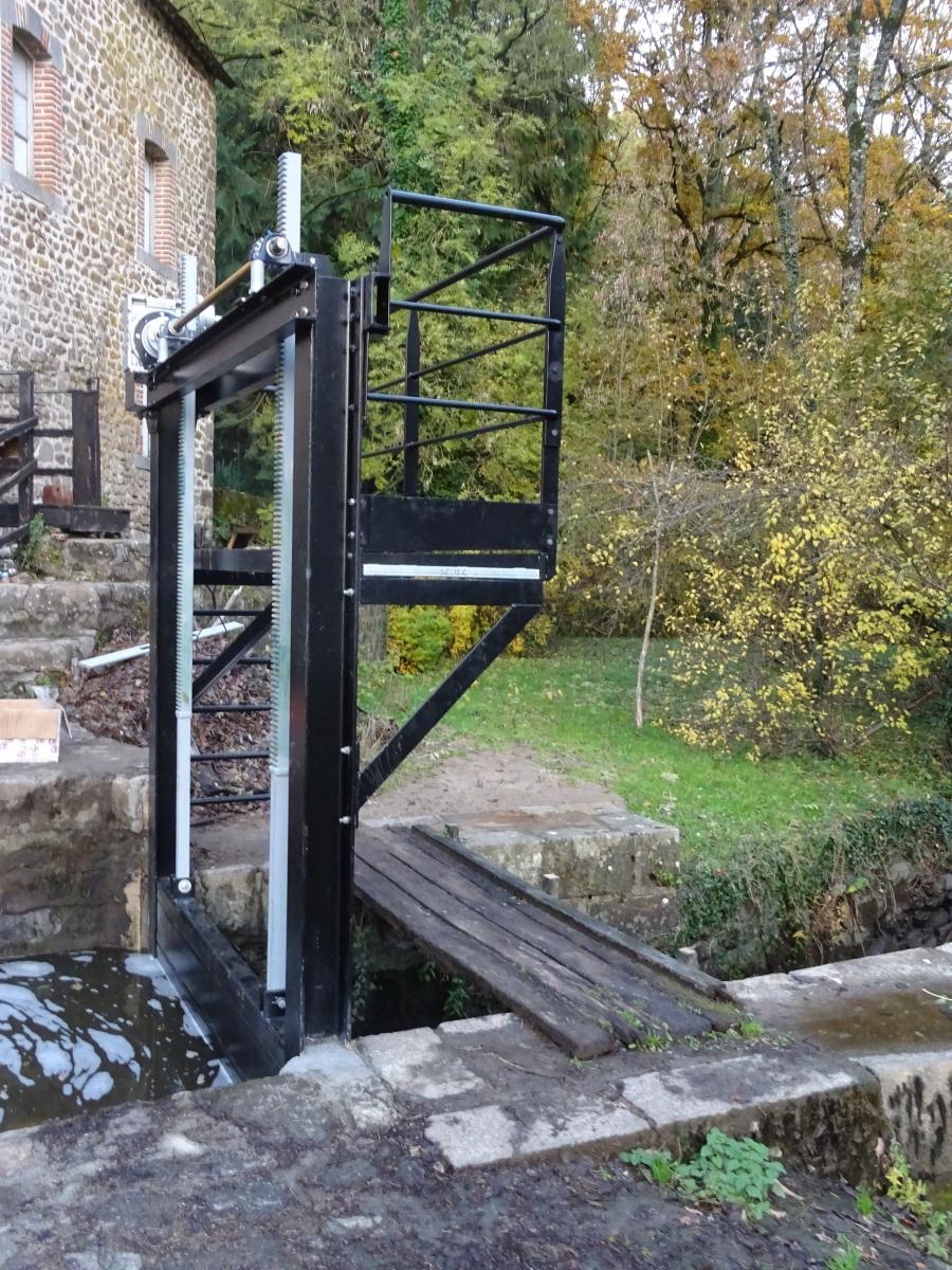 Vanne de décharge  Moulin-Patrimoines