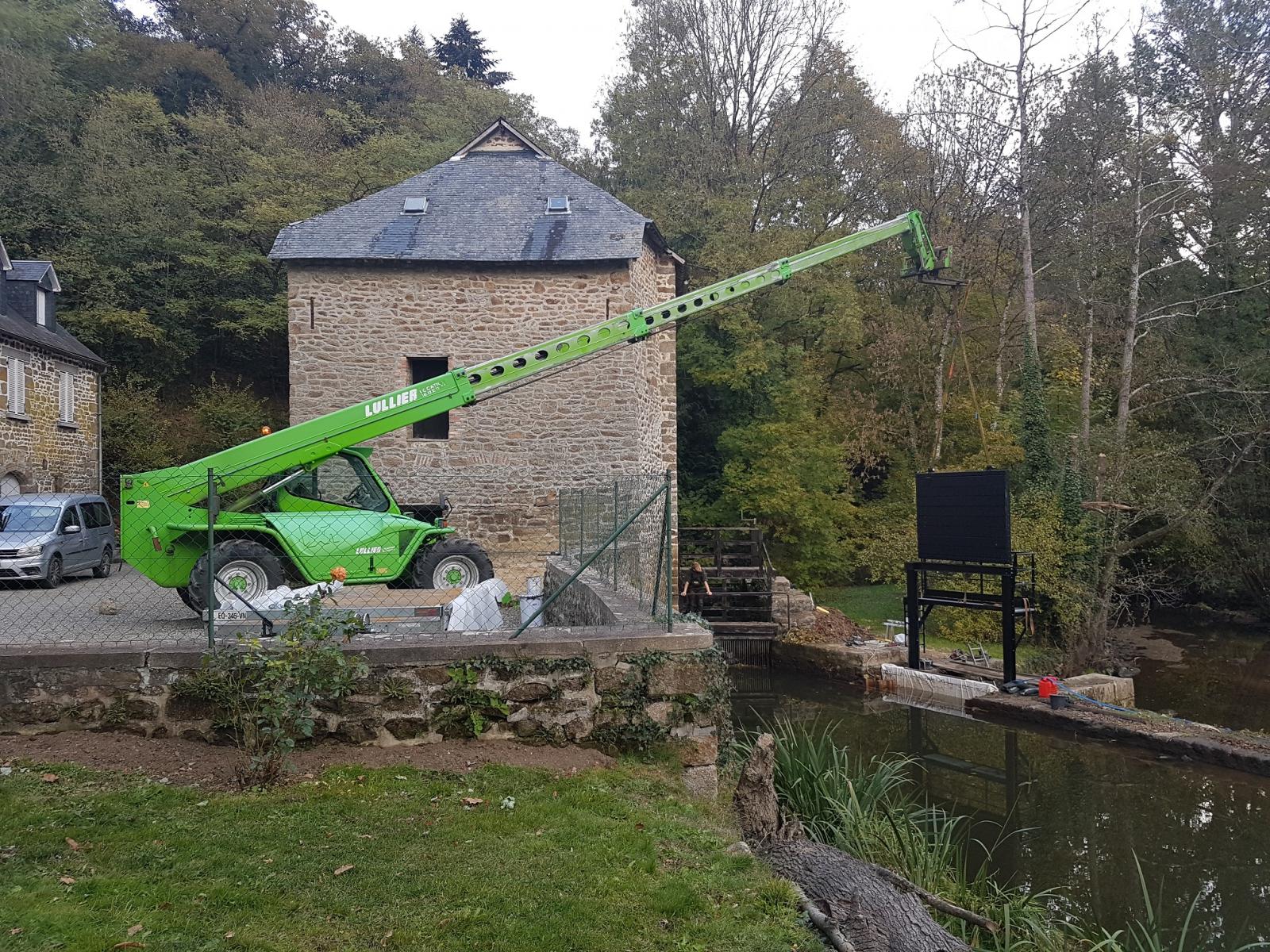 Installation vanne  Moulins-Patrimoines